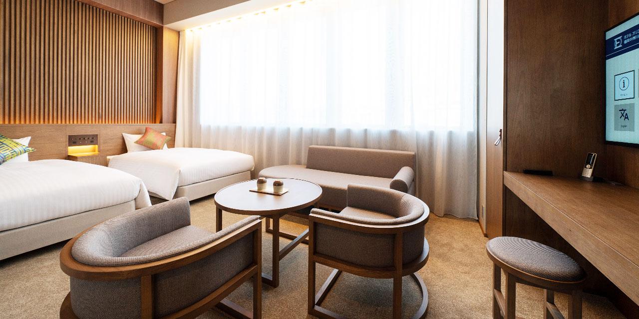 高天花板豪华双床房