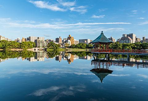 오호리 공원 / 마이즈루 공원 (후쿠오카성터)